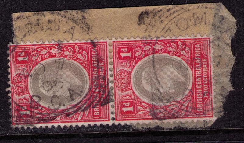 British Central Africa #  60  Used VF Zomba Cat $ 4.50+
