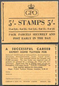 H19c Jan 1956 5/- Booklet EEEEET