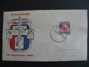 Malaya Pahang Sc 69 FDC first day cover TES cachet