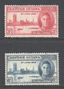 British Guiana Scott 242/243 - SG320/321, 1946 Victory Set MH*