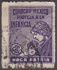 Mexico RA8C Hinged Used 1929 Postal Tax Stamp