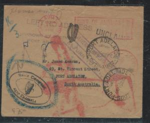 AUSTRALIA (P1806B) INCOMING COVER 1956 FROM IRELAND UNCLAIMED, RETURNED