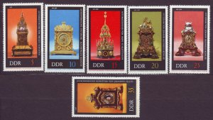 J22670 Jlstamps 1975 germany ddr set mnh #1655-60 clocks