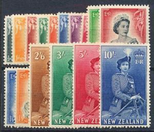 NEW ZEALAND 288-301 MINT LH, QEII SET