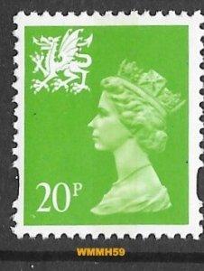 Great Britain-Wales  #WMMH59  20p QE II - Jul 23 1996  (1) Mint NH