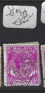 SINGAPORE (PP0502B)  KGVI  5C  SG 19A  VFU