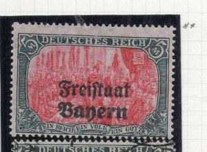 Bayern 1919 Early Issue Fine Mint Hinged 5M. Optd NW-10696
