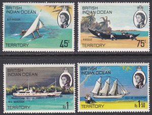 British Indian Ocean Territory Sc #35-38 MNH; Mi #32-35
