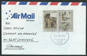 AUSTRALIA 1991 cover to Germany - nice franking - Sydney Pictorial pmk.....47244