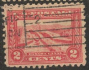US Stamp #402 Panama Canal Locks - Panama-Pacific Expo Issue