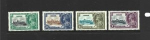 Malta Scott 184-187 1935 Jubilee Unused Hinged