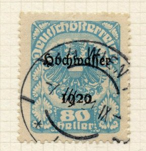 Austria 1920 Flood Relief Early Issue Fine Used 80h. Optd NW-119867