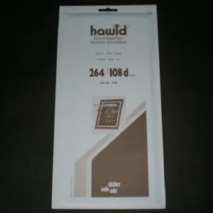 Hawid Stamp Mounts Size 264/108d BLACK Background Pack of 8