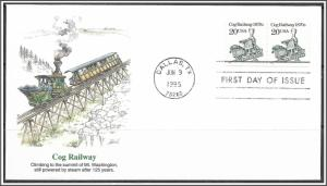 US #2463 Cog Railway Pair Fleetwood FDC
