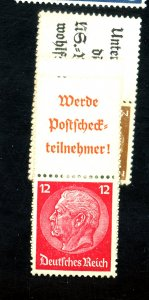 GERMANAY #403 406 415 416 MINT WITH TABS FVF OG LH