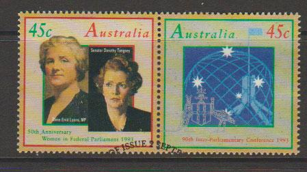 Australia SG 1421a  VFU se-tenant pair with First Day cancel