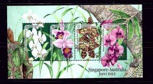 Singapore 861A MNH 1998 Orchids S/S
