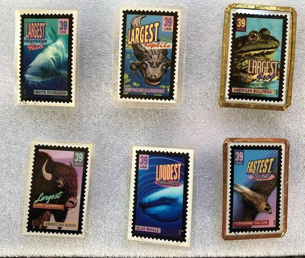 6 Different Stamp Pins Featuring The Wonders of America from 2006