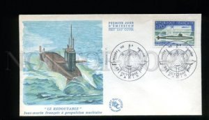162713 FRANCE 1969 NUCLEAR SUBMARINE Le Redoutable FDC Cover