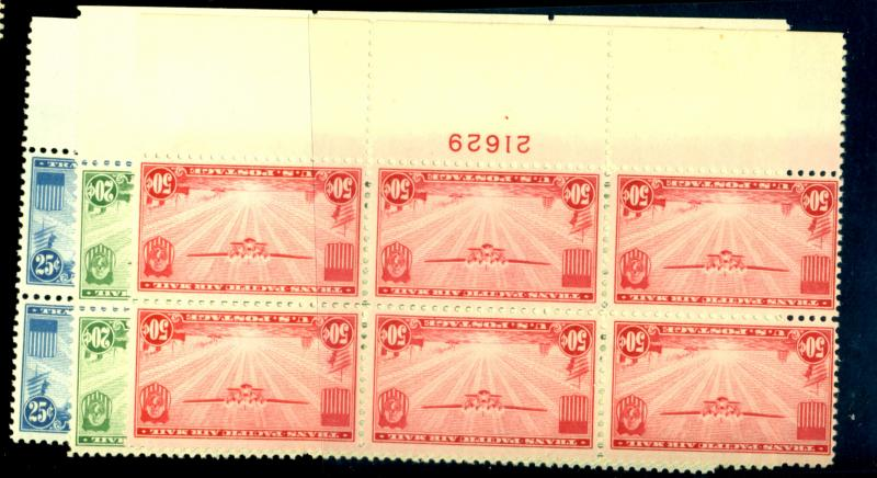 C20-22 MINT Plate Blocks F-VF OG NH Cat$190