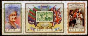 Lesotho MNH Strip 313 80th Birthday QE II 1980