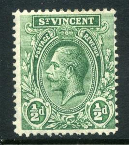 ST.VINCENT;  1913 early GV issue fine Mint hinged value  1/2d.