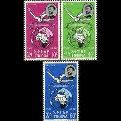 ETHIOPIA 1963 - Scott# C74-6 Heads Conf. Set of 3 NH