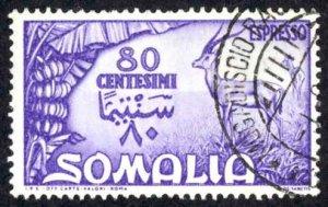 Somalia Sc# E9 Used 1950 80c Special Delivery
