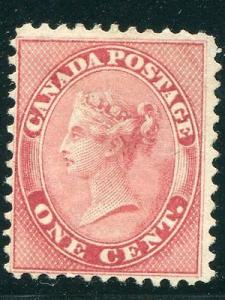 Canada #14 unused   Perf 12  almost VF