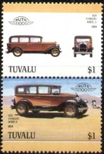 Automobile, 1928 Plymouth Model Q, Tuvalu stamp SC#425 MNH