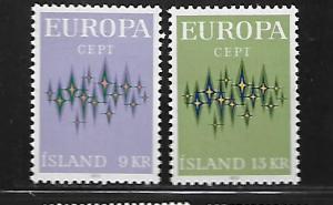 ICELAND, 439-440, MNH, EUROPA 1972