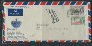 CAYMAN ISLANDS (P0912B) QEII 5/-+9D 2ND CLASS A/M  TO USA