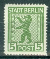 Germany - Russian Zone - Berlin-Brandenburg - Scott 11N1 MNH (SP)