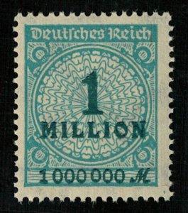Germany, Overprinted Stamp 1 million (3527-T)