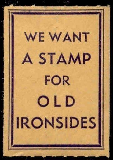 US - WE WANT A STAMP FOR OLD IRONSIDES Poster Stamp