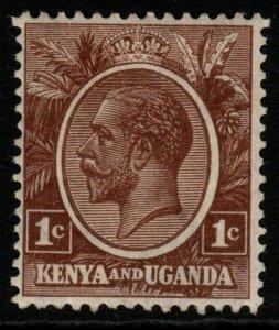 KENYA, UGANDA & TANGANYIKA SG76 1922 1c PALE BROWN MTD MINT