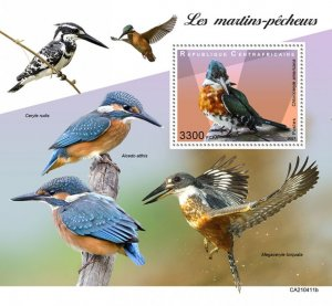 C A R - 2021 -Kingfishers - Perf Souv Sheet - Mint Never Hinged