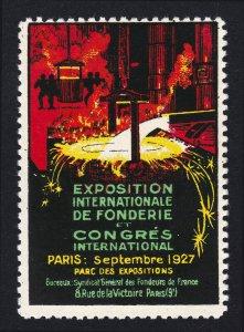 REKLAMEMARKE PARIS EXPOSITION INTERNATIONAL DE FONDERIE 1927
