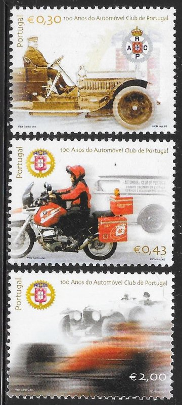 Portugal 2565-2567 MNH - 100th Anniversary of the Automobile Club of Portugal