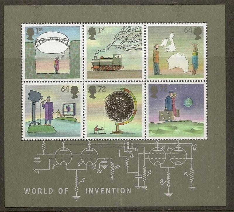 GB 2007 World of Invention Min.Sheet MNH