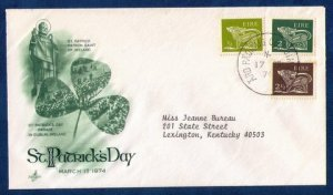 Ireland FDC Sc 294 With Sc 290 & 293 Postal History Cover VF (1974):