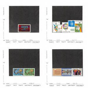 Lot of 84 U.N. United Nations MNH Mint Never Hinged Stamps #149749* X R