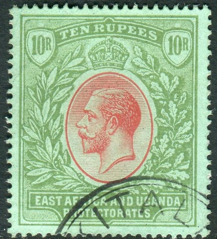 EAST AFRICA & UGANDA-1912-21 10r Red & Green/Green.  A fine used example Sg 58