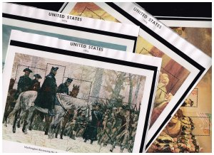 US STAMP # USA STAMP #1686-89 1976 Bicentennial S/S 4 sheets COMPLETE MNH