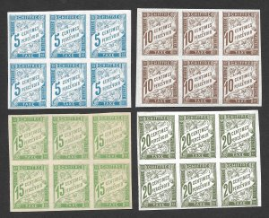 Doyle's_Stamps: MNH French Colonial Postage Due Blocks, #J15** // #J18** (Lot 2)