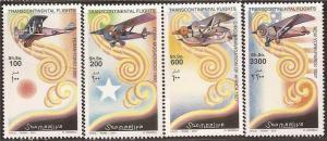Somalia 2001 Transcontinental Flights - 4 Stamp Set - 27A-006