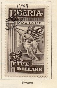 Liberia 1916-18 Early Issue Fine Used $5. 268059