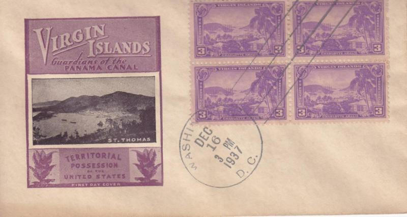 Cover: Virgin Island, FDC, Dec 16, 1937 (S11480)