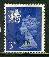 Great Britain, Region, Wales; 1971: Sc. # WMMH2: O/Used Single Stamp