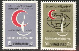 Syria  Scott C299-300 MNH** Red Cross Centenary set